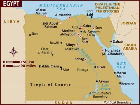 Egypt Three Farmers And A Greek - Map of egypt dahab