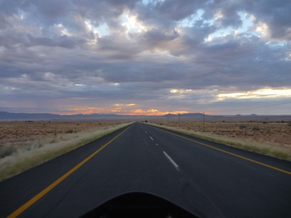Early morning on the way to Upington
